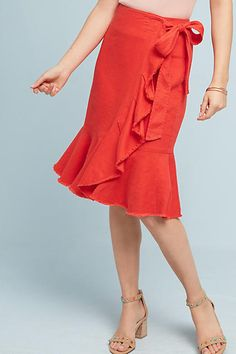 Shop Holding Horses clothing at Anthropologie. Find your favorite dresses, buttondown tops, skirts and more. Linen Skirt, Ruffle Skirt, Blouse Dress, Dress Up, Summer Skirts, Summer Dresses, Frill Skirts, Blue Skirts, How To Make Clothes