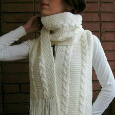 Excited to share the latest addition to my #etsy shop: Long white scarf with fringe Ready to ship skarf Сable knit scarf Oversize scarf #aksessuary #whitescarf #longscarf #scarfwithfringe #winterscarf http://etsy.me/2i4U4Jf