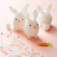 Our fun Easter garland is also an engaging hands-on project for the whole family! Find more ideas here: http://www.bhg.com/holidays/easter/crafts/easter-crafts-for-all-ages/?socsrc=bhgpin030215eastergarland
