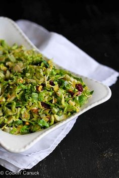 Shredded & Sauteed Brussels sprouts, mixed with dried cranberries, pistachio and Parmesan makes a fantastic side dish! 83 calories and 2 Weight Watchers SmartPoints