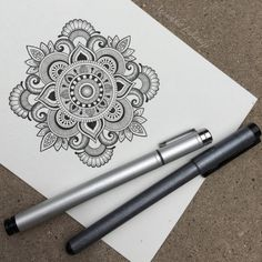 with by mandala_sharing Mandala Doodle, Mandala Art Lesson, Mandala Drawing, Mandala Painting, Zen Doodle, Mandala Tattoo, Doodle Art, Art It, Wow Art