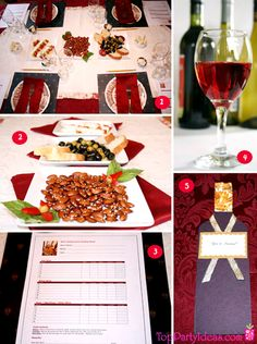 Wine Tasting Party Table, Wine, Wine Evaluation sheet, Wine Bottle Invitation