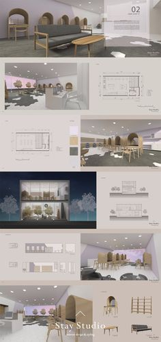 [Stay Studio] 인테리어 포트폴리오 Interior Portfolio / 헤어샵 인테… - All About Decoration Portfolio Design Layouts, Layout Design, Graphisches Design, Design Logo, Design Poster, Design Studio, Interior Design Portfolios, Studio Interior, Home Interior Design