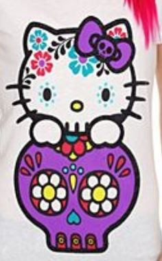 Hello Kitty Sugar Skull   Hello Kitty sugar skull graphic t design; from ...   Hello Kitty
