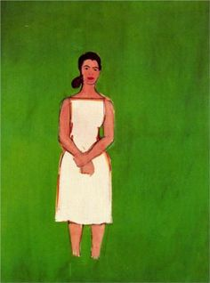 Alex Katz - Ada in White Dress