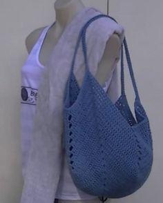 Solid Granny Square Bottom Bag: free pattern
