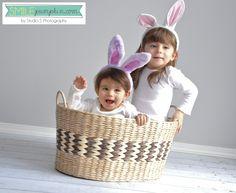 Easter portrait idea - use bunny ears!    Studiosblog.com
