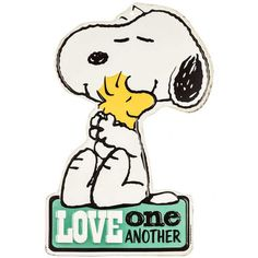 Love One Another Snoopy & Woodstock Tin Sign