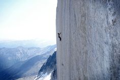 """climberclimbing:  """"Will Stanhope on splitter finger-crack pitch of the Tom Egan Memorial Route, freed at 5.14"""".   Photo from Ines Papert.  Found on Rockandice.com"""