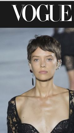 YSL Spring 2018. Love hair. Love earrings.