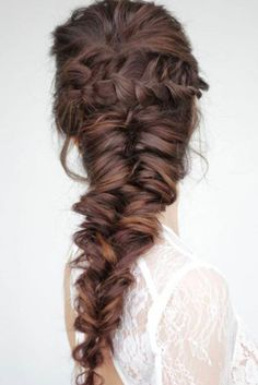 Mermaid Braid by Stella Loewnich Get from KingHair to add volume ., Mermaid Braid by Stella Loewnich Get from KingHair to add volume and length in minutes! Fresh your daily hair looking at www. Braided Hairstyles For Wedding, Box Braids Hairstyles, Pretty Hairstyles, Boho Hairstyles, Hairstyle Ideas, Teenage Hairstyles, Long Hair Hairdos, Braided Wedding Hair, Volume Hairstyles