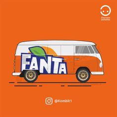 Fanta Van VW T1 Flat Design