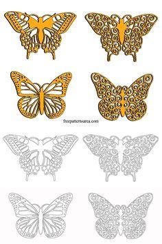 Butterfly Clipart Vector Art Files   FreePatternsArea