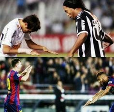 Neymar knows who to bow down to=)