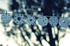 I made these snowflakes ages ago for this shot but only got round to taking it this morning (brrrrr it was cold! Bizarrely we now have real snow coming down quite heavily. All Things Christmas, Christmas Holidays, Christmas Crafts, Christmas Ideas, Xmas, Paper Art, Paper Crafts, The Light Is Coming, Winter Fun