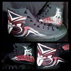 Vodafone Warriors inspired Hi-Tops from Darnell Hemara