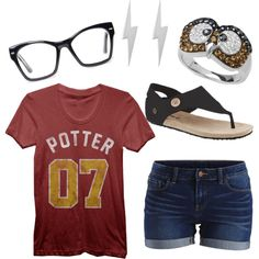 April loves Gryffindor!! by bearpawstyle on Polyvore featuring VILA, Spitfire, april, bearpaw and bearpawweather