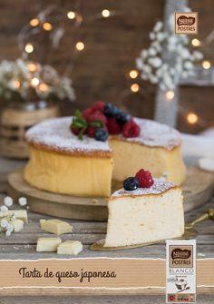 Tarta de queso japonesa con chocolate blanco
