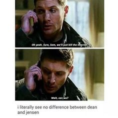 Yeah, Dean vs. Technology and Jensen vs. Technology are really the same thing...