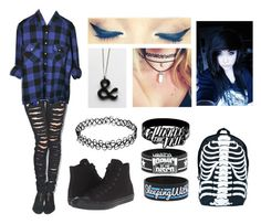 """""""Emo Back to School #2"""" by mrosep on Polyvore featuring Tripp, Converse and Comeco"""