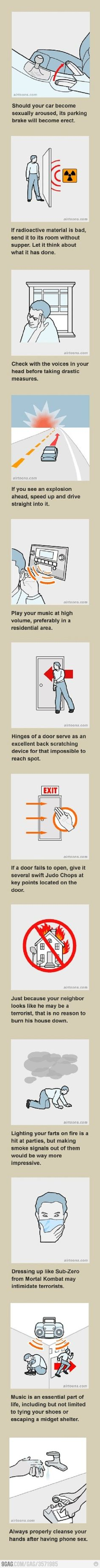 Interpreting safety guidelines  one of the funniest things I have seen on 9gag