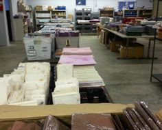 So the first thing we did was have a warehouse sale, providing huge bargains to all of those artists out there.