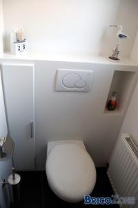 Habillage / Cloison d'un WC suspendu   (Explications et détails)                                                                                                                                                                                 Plus