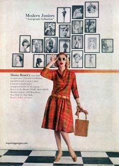 Modern Juniors ad, 1958. #vintage #1950s #fashion #dress