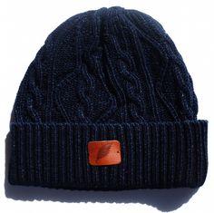 Pure Blue Japan Indigo Dyed Knit Beanie (5 Gauge Version)