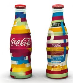 Coca-Cola continues to use artists (fashion, music, etc.) to reach various markets in collecticle limited edition bottle designs