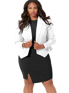 White Blazer Plus Size