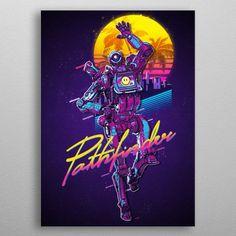 Apex Legends Pathfinder Retro Poster Print | metal posters - Displate