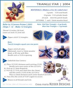 Eva Maria Keiser Designs: Tutorials  This amazing bead artist shares many free tutorials.