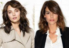 Tunsori femei cu fata rotunda si par mediu fara breton Hairstyle, Hair Job, Hair Style, Hairdos, Hair Styles, Updo, Style Hair, Hairstyles, Hair Cut