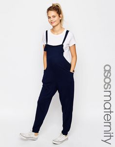 Image 1 of ASOS Maternity Overall Jumpsuit In Jersey
