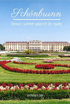 Exploring the palace and gardens of the Schönbrunn Palace in Vienna, Austria