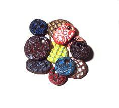 Pendant Bead Mix Ceramic Assortment of Twelve by midnightcoiler