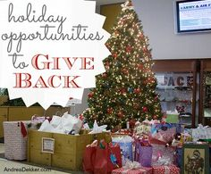 Dozens of great ideas here! -> Holiday Opportunities to Give Back