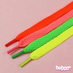 NEON thick shoelaces
