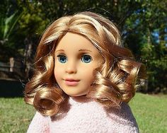Adorable-CUSTOM-American-Girl-Doll-Blonde-Curls-Great-Price