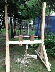 How to Make a Bungee Pole Lathe: Building the Body | The Renaissance Woodworker