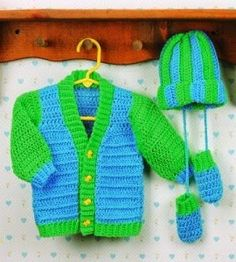 Free Crochet Patterns and Designs by LisaAuch: FREE Crochet Patterns Baby Cardigans
