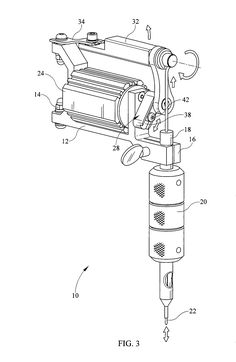 Patent US8522647 - Eccentric gear for tattoo machine for adjusting ...