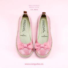 ¡Flechazo de jueves! Bailarinas rosas de Fresas by Conguitos para las niñas más presumidas :)