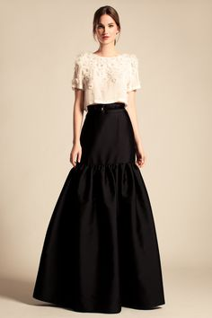 Temperley London, Cruise '14, Crystal Blossom Top and Long Rosa Skirt