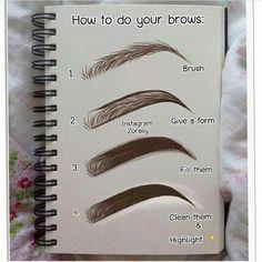 make up Thread Eyebrow Salon Eyebrow Makeup Tips, Makeup 101, Skin Makeup, Makeup Inspo, Makeup List, Eyebrow Pencil, How To Makeup, Makeup Inspiration, Makeup Basics