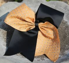 2-Tone Diamond Cheer Bow
