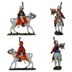 "Trompeta - Cazadores a caballo de la Guardia Imperial - 1803 - Francia (Colección ""Caballeros de las Guerras Napoleónicas"" editada por delPrado - 60 mm)"