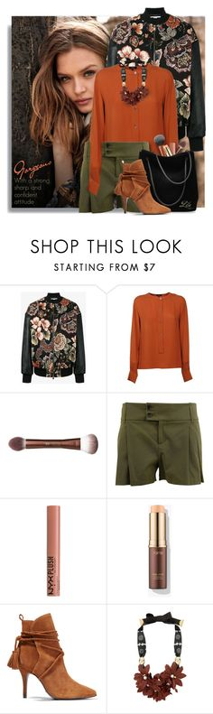 """A strong, sharp and confident attitude"" by breathing-style ❤ liked on Polyvore featuring Vero Moda, STELLA McCARTNEY, Theory, Gucci, NYX, Schutz and Lizzie Fortunato"