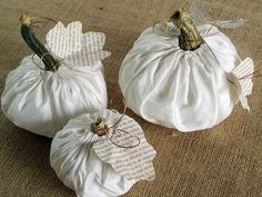 Fabric Paper Thread: Fabric Pumpkin Tutorial